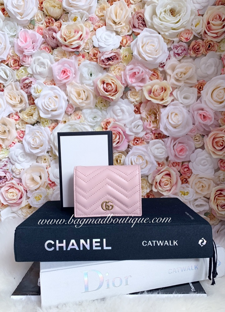 Gucci Pink Marmont Compact Wallet