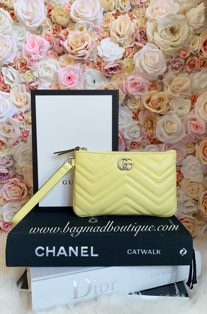 Gucci Limited Edition Lemon Marmont Medium Pouch/Clutch