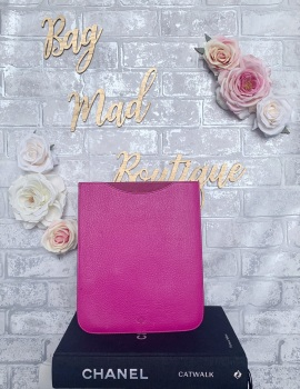 Mulberry Pink Grained IPad Pouch