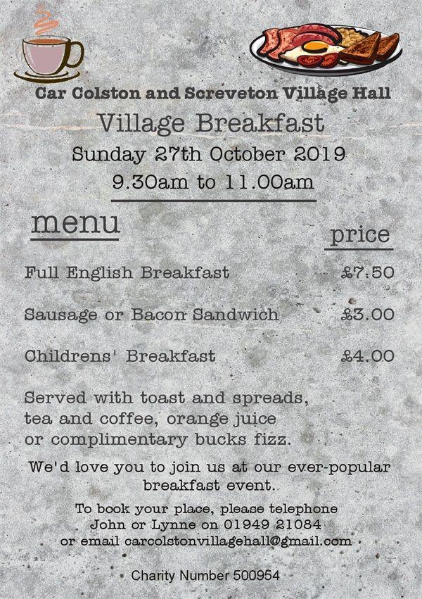breakfast October 2019