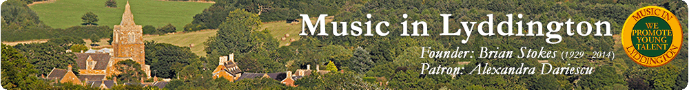 Music in Lyddington, site logo.