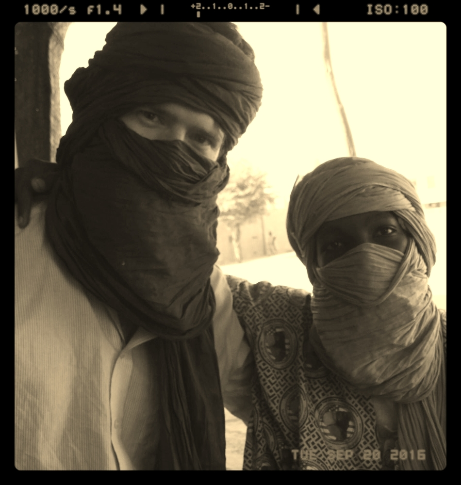 Nick and a Tuareg friend
