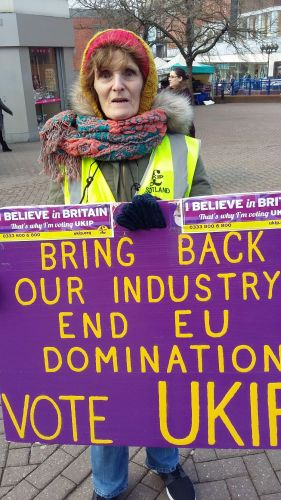 ukip campaigner in stoke-on-trent