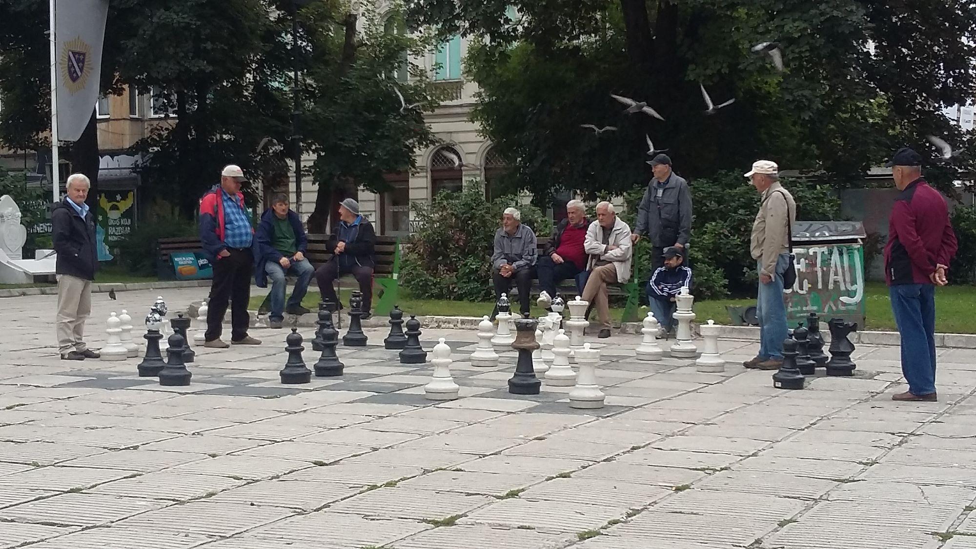 Sarajevo chess players