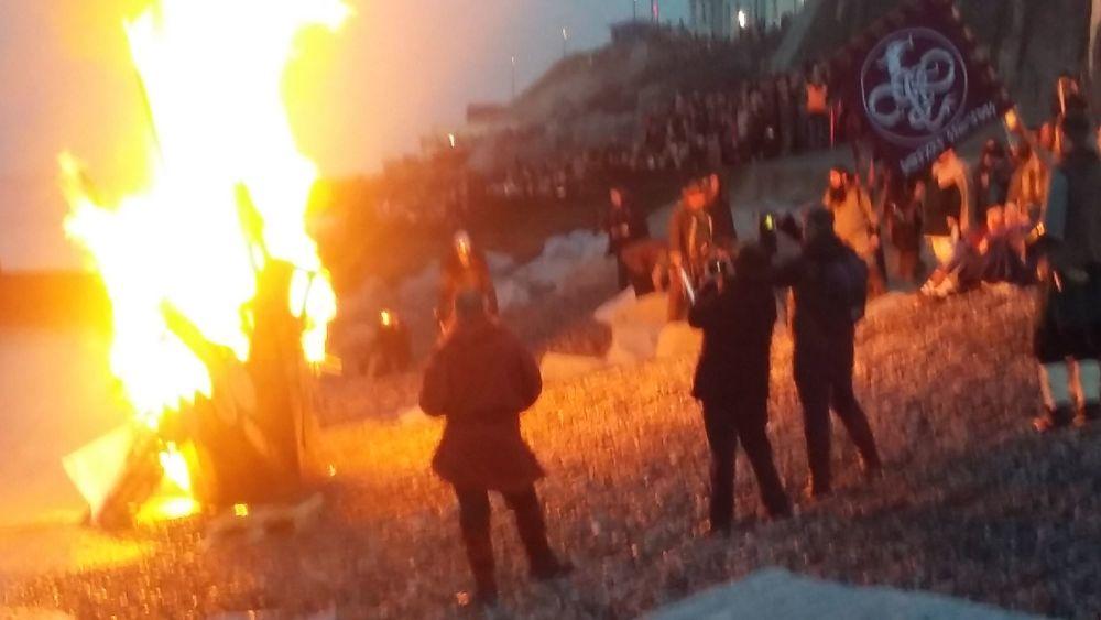 Boat burning