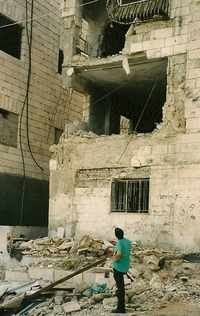 a Palestinian apartment block in Beit Jala