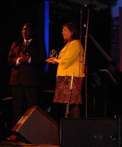 Lifetime achivement award Courtney pine Brecon Jazz 09
