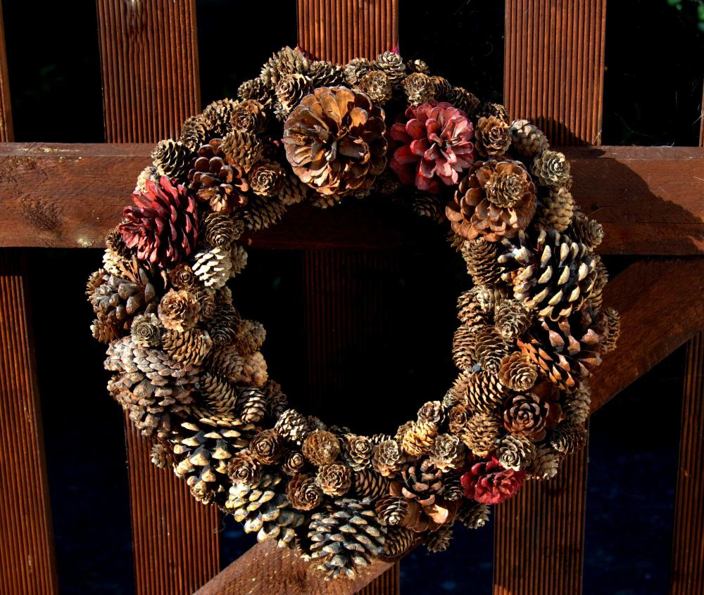 Handcrafted Natural Pine Cone Wreath
