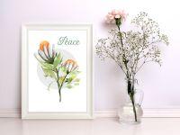 Peace Floral Art Print