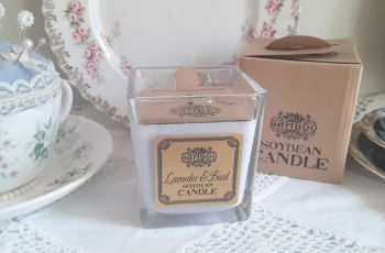 Eco-Friendly Soy Wax Jar Candle - Lavender and Basil