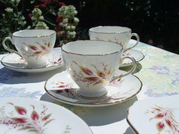 Set of 3 Vintage Foley China Demitasse Cups