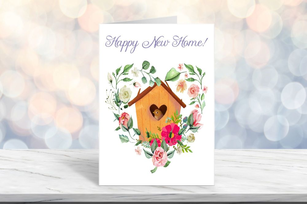 Happy New Home Card, Blank Card - 5 x 7