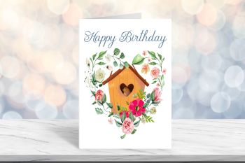 Happy Birthday Card, Blank Card - 5 x 7