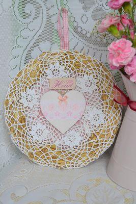 Handmade Vintage Style 'Heart' Wreath