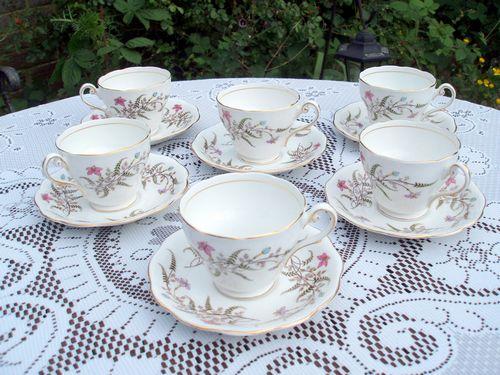 Vintage Royal Standard Set of 6 Tea Cups - Fancy Free