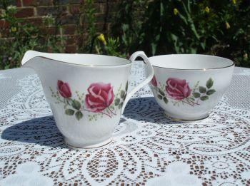 Vintage Royal Windsor China Milk Jug and Sugar Bowl