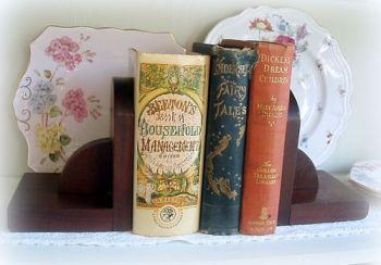Pair of Solid Wood Vintage 1940's Book Ends
