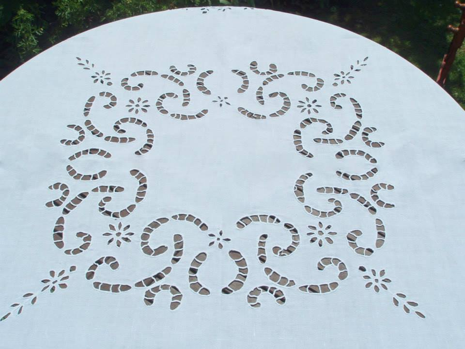 Vintage Cutwork Tablecloth 49