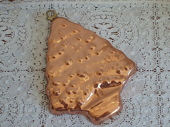 Vintage Copper Christmas Tree Biscuit / Chocolate Mould