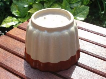 Vintage Stoneware Brown and Cream Glaze Jelly Mould