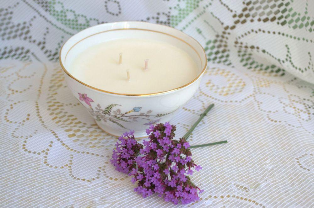 3 Wick Vintage Sugar Bowl Soy Wax Candle