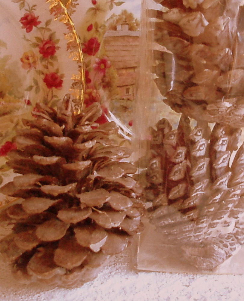 Pack of 2 Large Soy Wax Dipped and Scented Natural Pine Cones