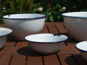 Group of Vintage Enamel Bowls