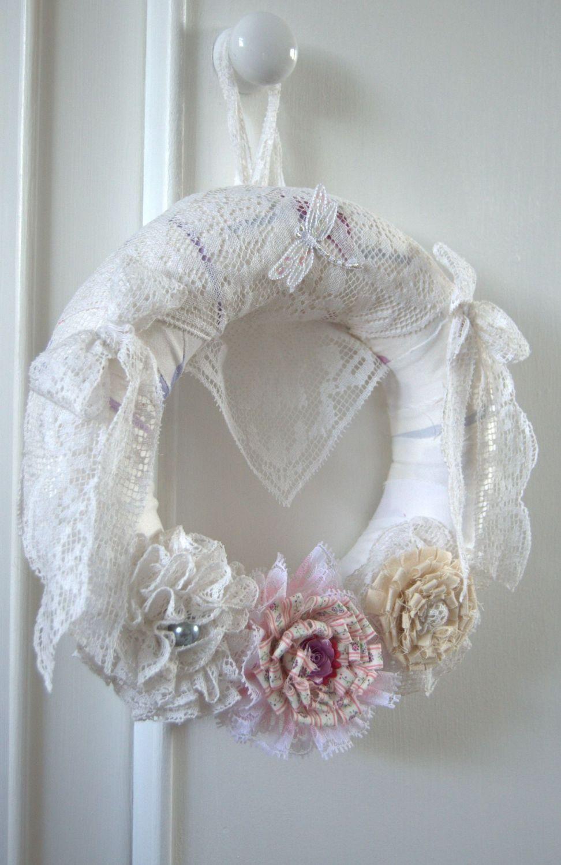 Beautiful Handmade Shabby Chic Wreath - 10