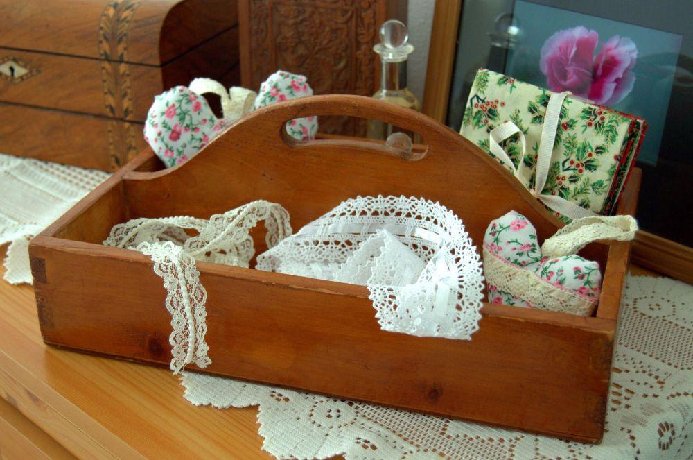 Beautiful Vintage Wood Cutlery Tray