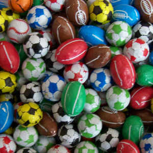 Chocolate Footballs - 240g