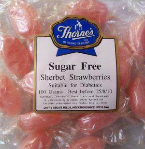 Thorne's Sherbet Strawberries - 100g