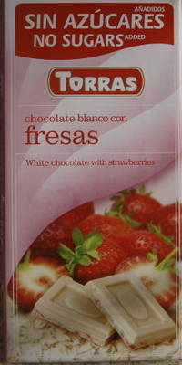 Torras White Chocolate with Strawberries - 75g