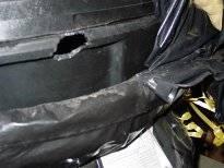 water tank damage rat
