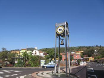 Puntagorda clock town centre la palma
