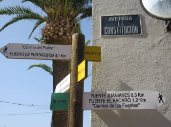 Walking routes Puntagorda la palma