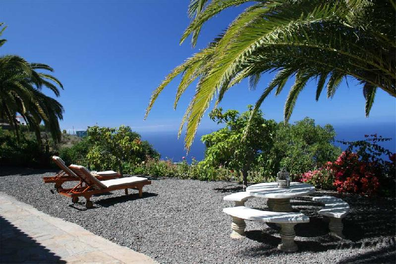 relax by the pool of Casa Medel, la Palma