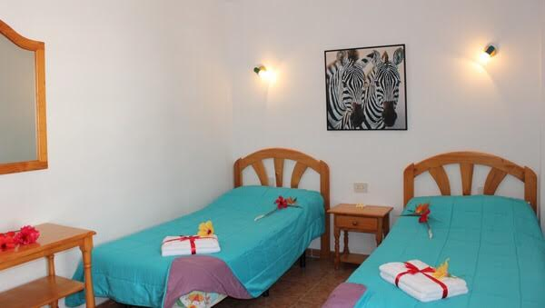 2-bedroom apartment latex mattresses puerto naos la palma