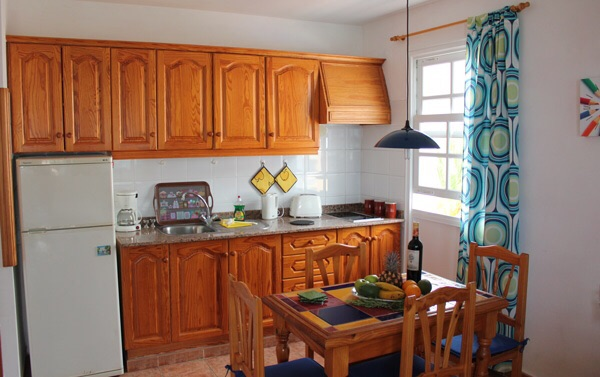 Fully equipped kitchen in family apartment Puerto Noas La Palma