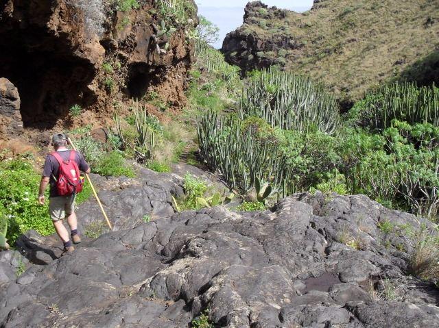 mexican ravine GR130 Camino Real la Palma