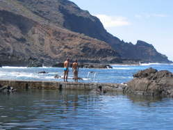 around la palma, swimming