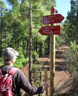 GR130 la palma walking sign
