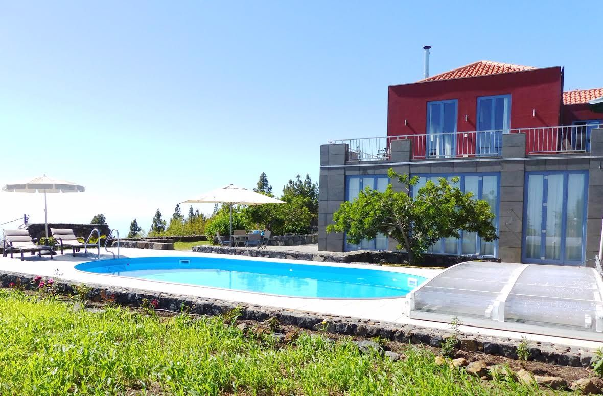 luxury self-catering villa with swimming pools, heated and covered