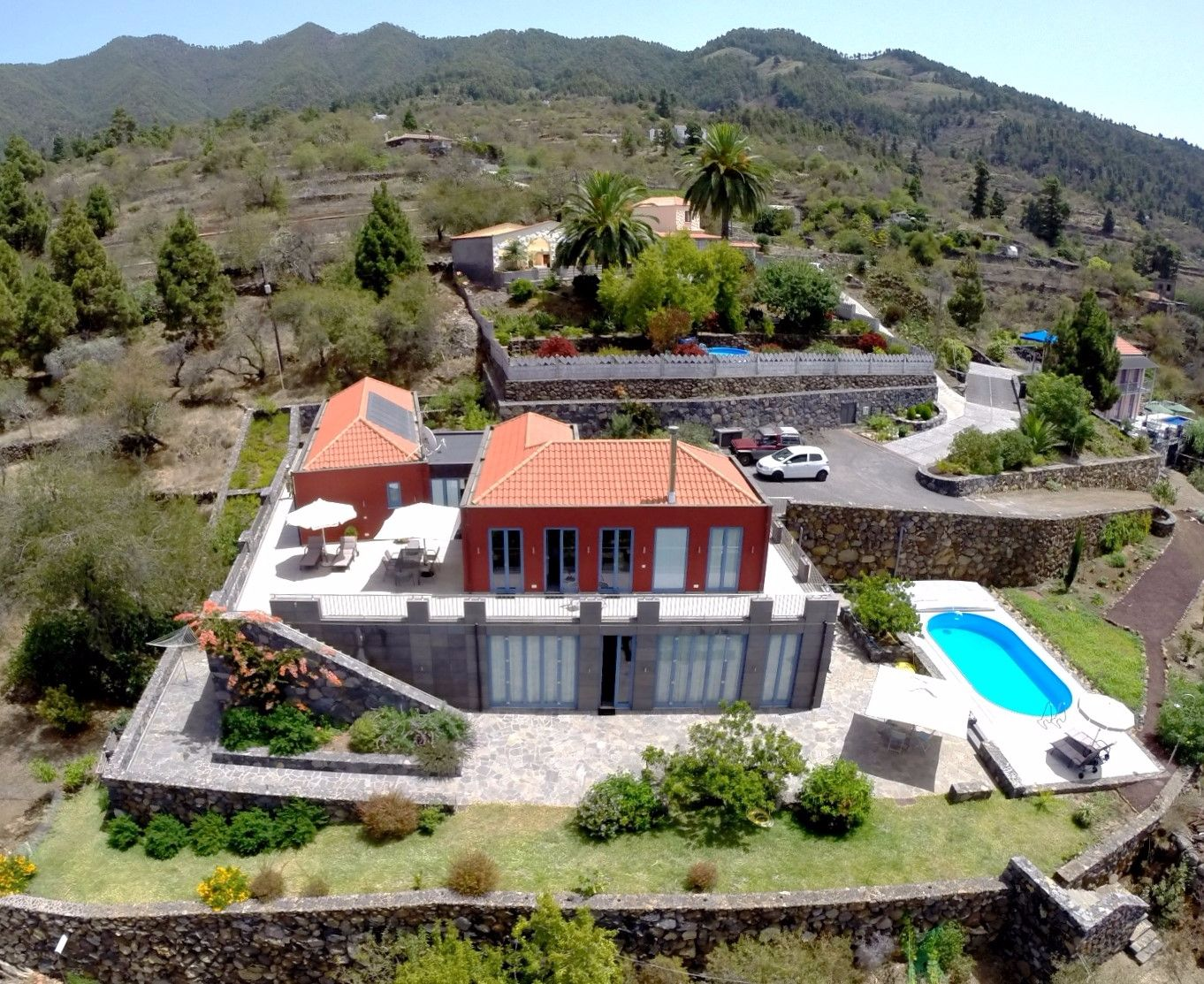 Villa Atlantica private pool Tijarafe La Palma