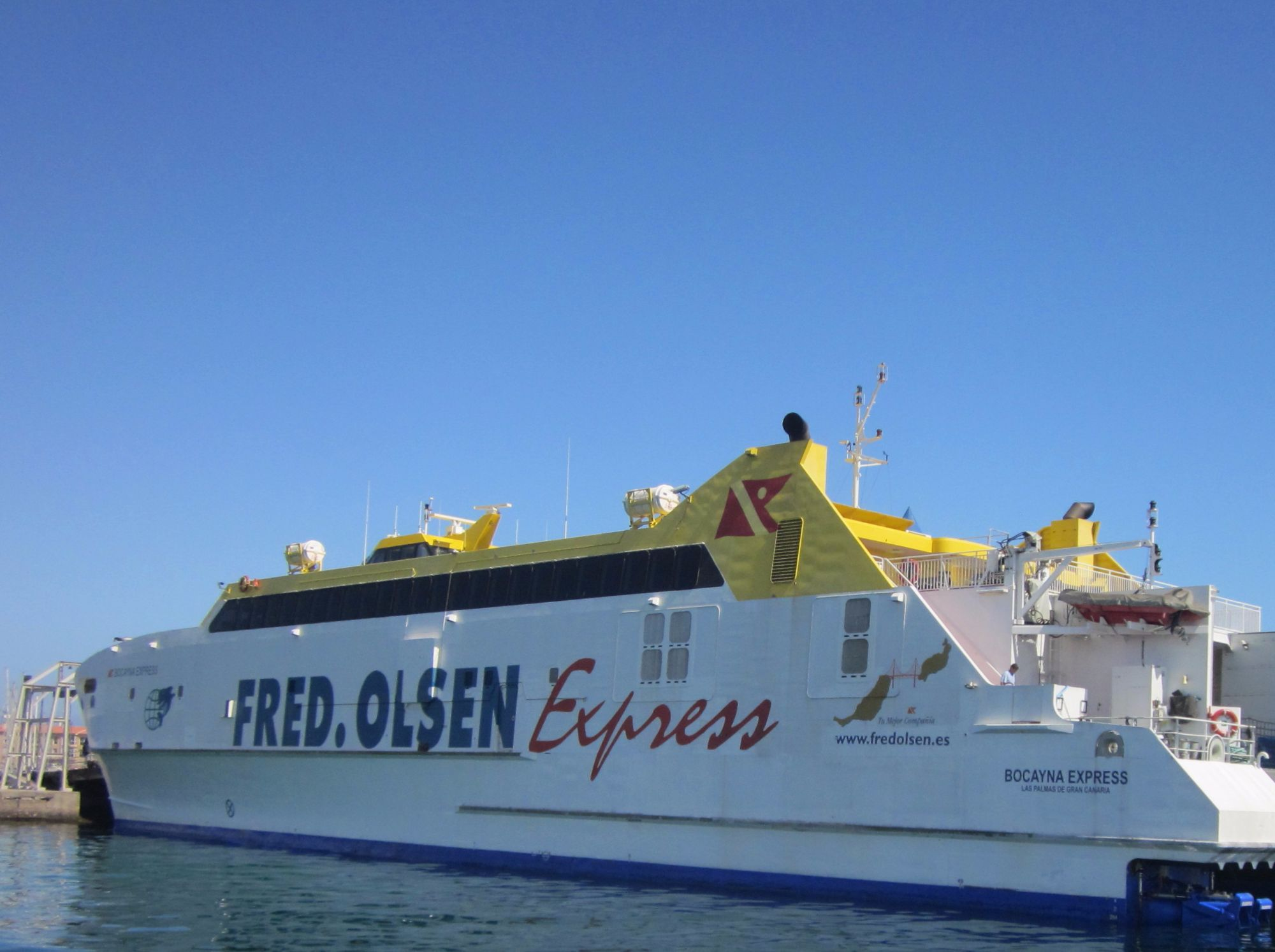 Fred Olsen ferry to La Palma