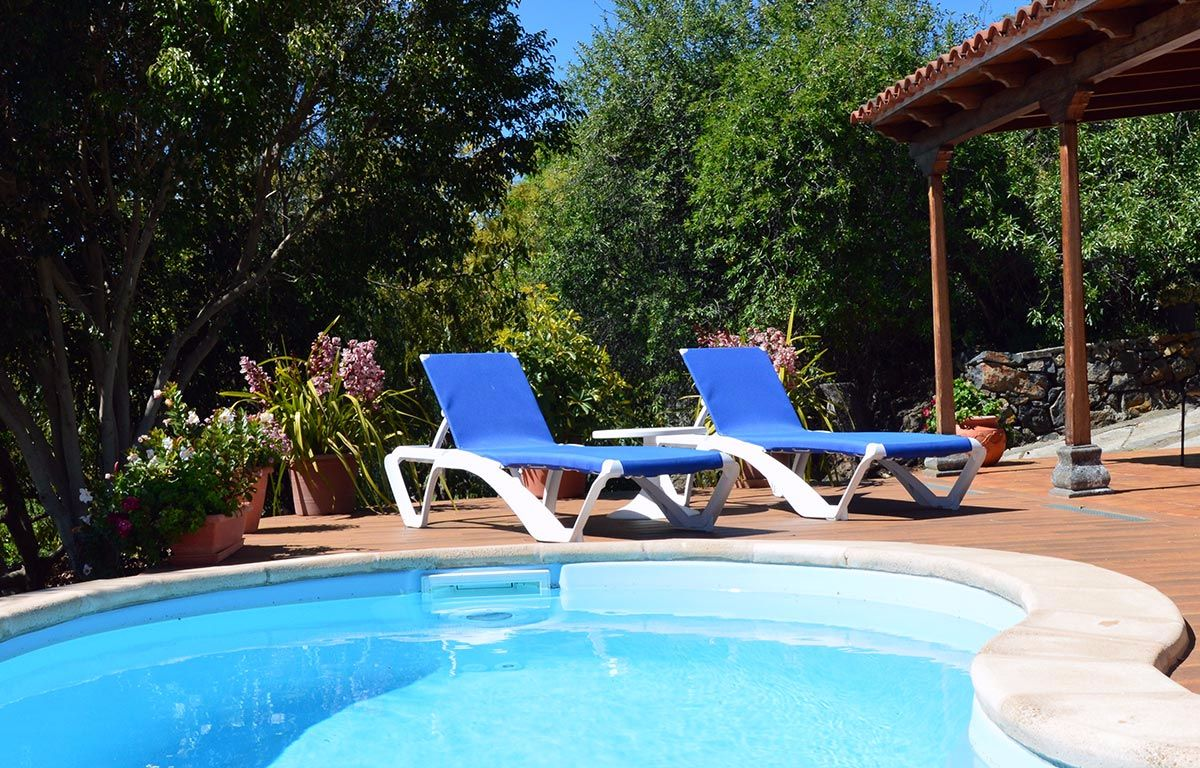 self-catering holiday home with pool la palma canaries