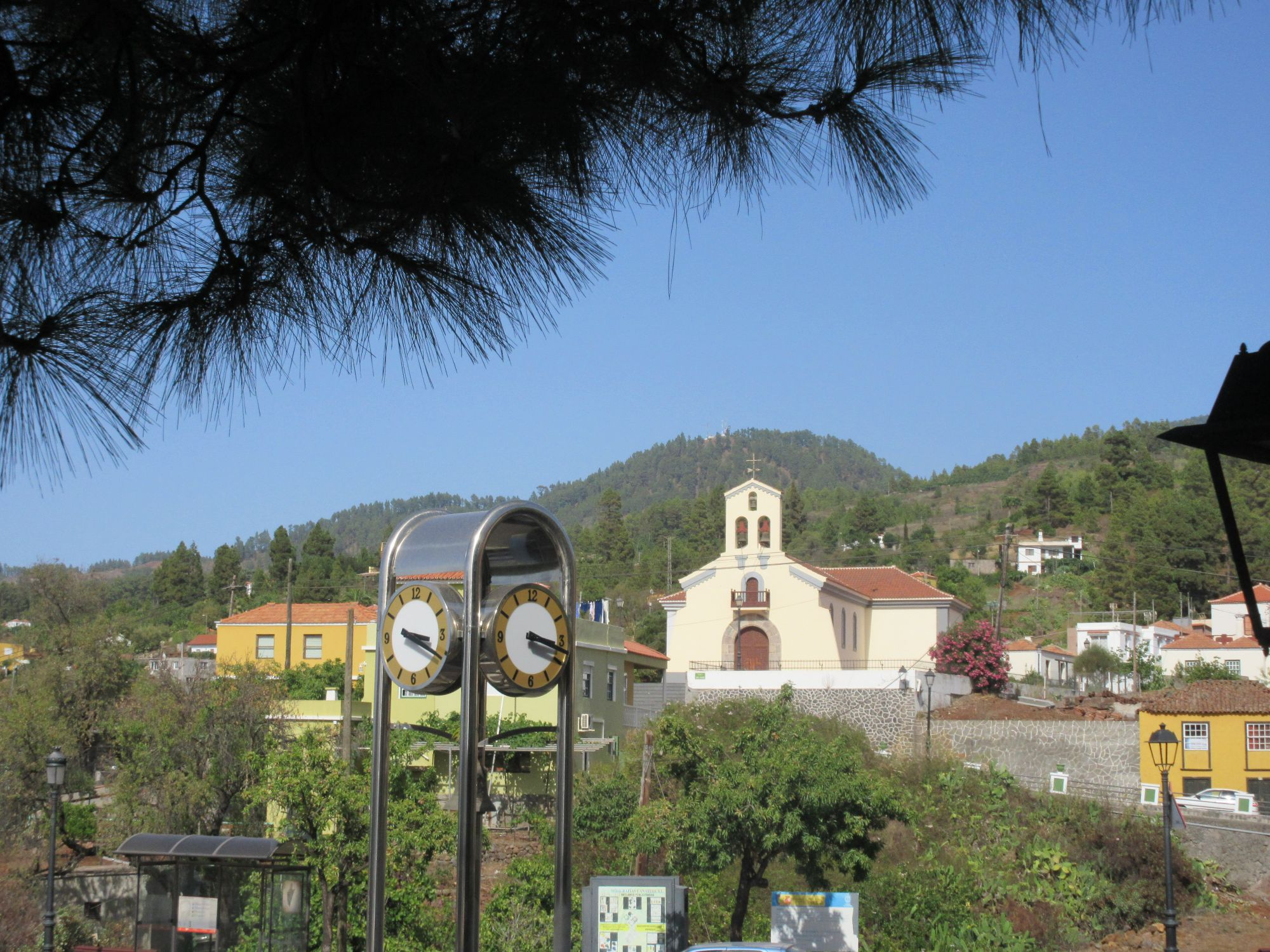 Puntagorda La Palma church and clock tower