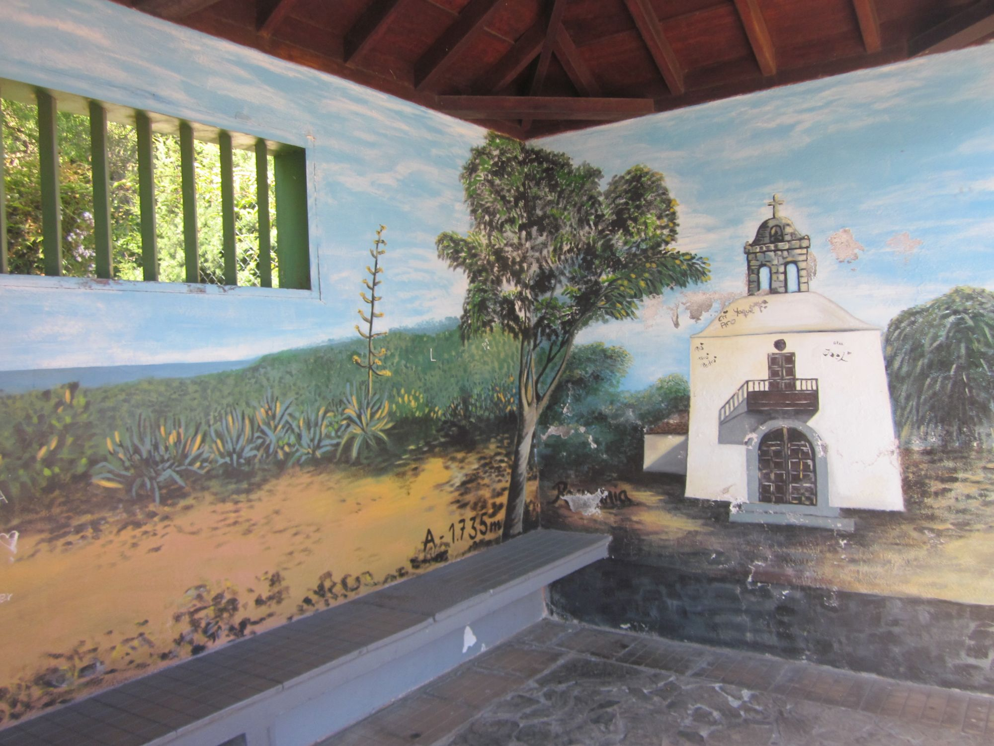 Murals on bus stops la palma