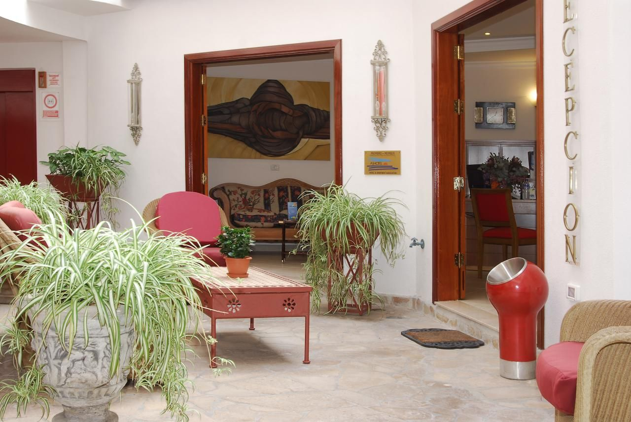 Reception of self-catering apartments puerto naos