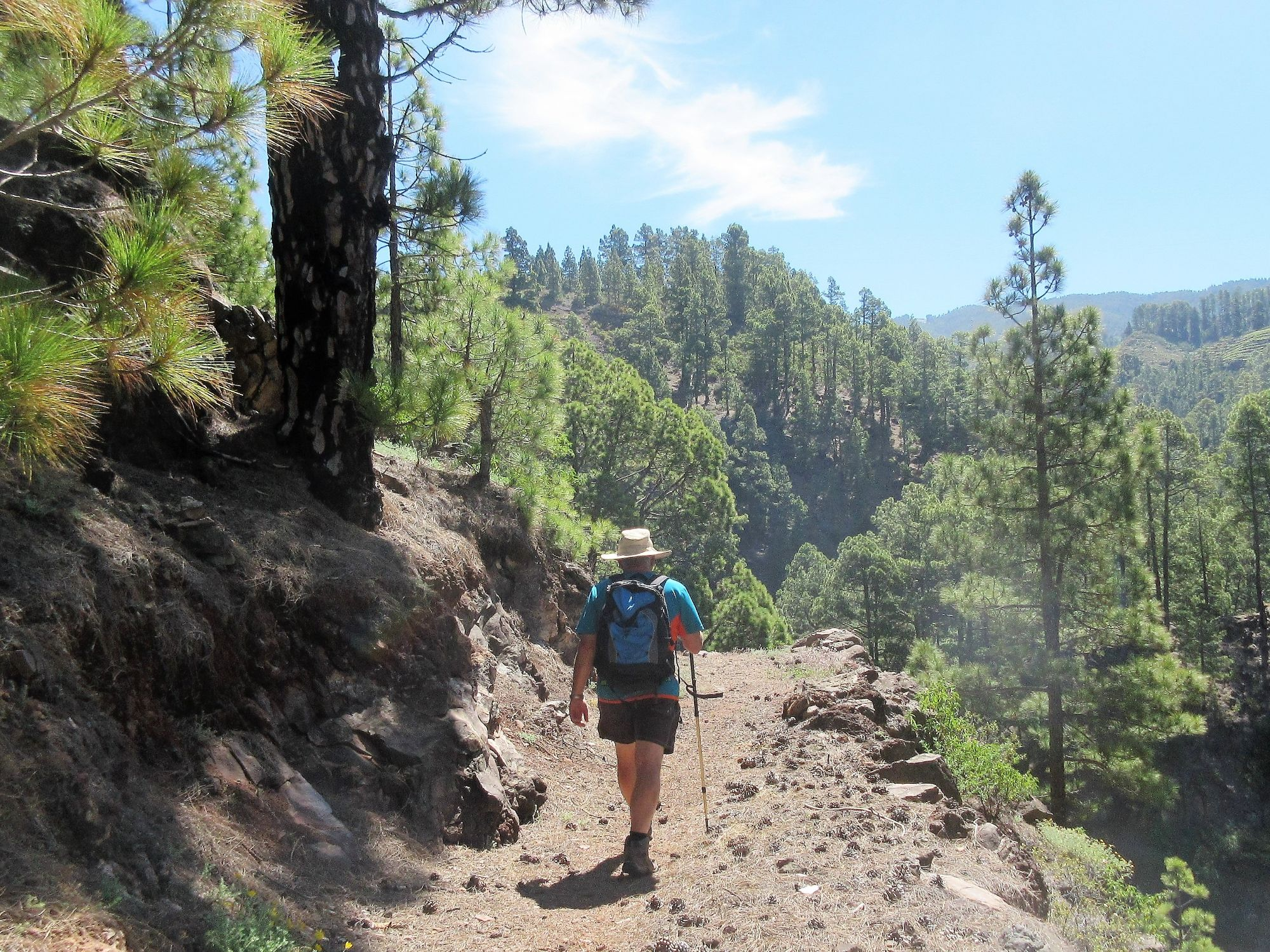 Walking routes on La Palma