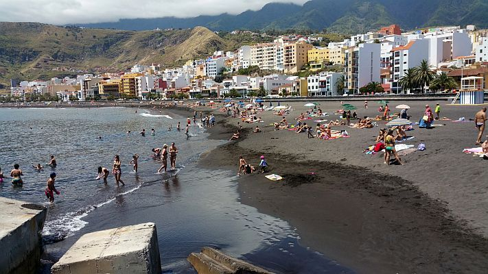 Sand beach at Santa Cruz de la Palma